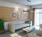 Płytki dekoracyjne - cegła ozdobna pokój